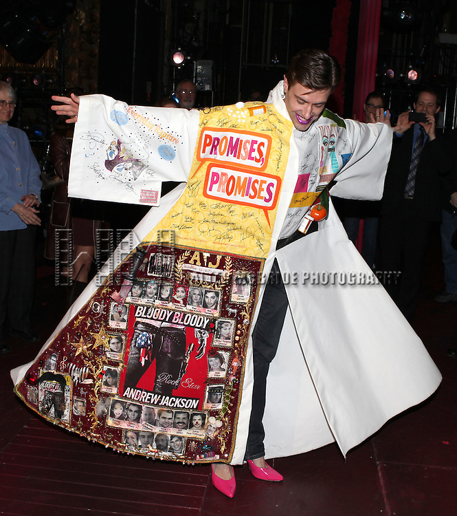 Eric Sciotto (Gypsy Robe Recipient for PRISCILLA) .attending the Broadway Opening Night Gypsy Robe Ceremony for 'Priscilla Queen of the Desert - The Musical' at the Palace Theatre in New York City.