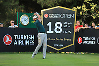 Joost Luiten (NED) during the second round of the Turkish Airlines Open, Montgomerie Maxx Royal Golf Club, Belek, Turkey. 08/11/2019<br /> Picture: Golffile | Phil INGLIS<br /> <br /> <br /> All photo usage must carry mandatory copyright credit (© Golffile | Phil INGLIS)