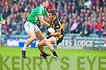 Shane Carroll Austin Stacks in action against James Walsh Saint Kierans in the Quarter Finals of the County Championship at Austin Stack Park on Sunday.
