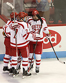 Charlie McAvoy (BU - 7), Clayton Keller (BU - 19), Jakob Forsbacka Karlsson (BU - 23) - The visiting Merrimack College Warriors defeated the Boston University Terriers 4-1 to complete a regular season sweep on Friday, January 27, 2017, at Agganis Arena in Boston, Massachusetts.The visiting Merrimack College Warriors defeated the Boston University Terriers 4-1 to complete a regular season sweep on Friday, January 27, 2017, at Agganis Arena in Boston, Massachusetts.