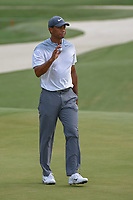 Tiger Woods (USA) after sinking his birdie putt on 2 during round 3 of The Players Championship, TPC Sawgrass, at Ponte Vedra, Florida, USA. 5/12/2018.<br /> Picture: Golffile | Ken Murray<br /> <br /> <br /> All photo usage must carry mandatory copyright credit (&copy; Golffile | Ken Murray)