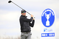 Sebastian Heisele (GER) on the 4th tee during Round 1 of the Open de Espana 2018 at Centro Nacional de Golf on Thursday 12th April 2018.<br /> Picture:  Thos Caffrey / www.golffile.ie<br /> <br /> All photo usage must carry mandatory copyright credit (&copy; Golffile | Thos Caffrey)