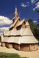church, Rapid City, SD, South Dakota, Black Hills, Chapel in the Hills a Norwegian Style church in Rapid City.