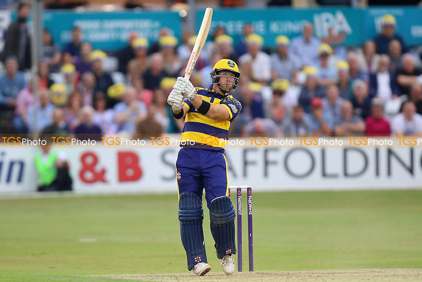 Colin Ingram hits six runs for Glamorgan during Essex Eagles vs Glamorgan, NatWest T20 Blast Cricket at the Essex County Ground on 29th July 2016