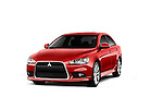 Front three quarter view of a 2012 Mitsubishi Lancer GT Touring .