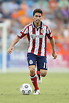 12 June 2013: Chivas USA's Gabriel Farfan. The North American Soccer League's Carolina RailHawks hosted Major League Soccer's CD Chivas USA at WakeMed Stadium in Cary, NC in a 2013 Lamar Hunt U.S. Open Cup fourth round game. Carolina won the game 3-1 after extra time.