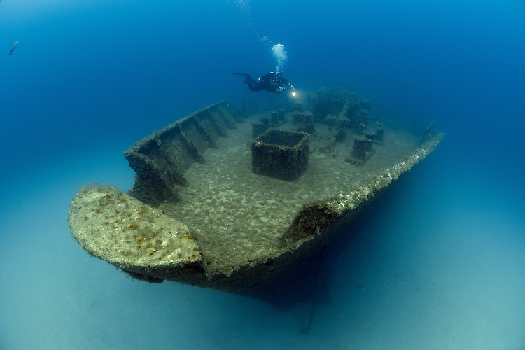 The wreck of the Um El Faroud, Malta.