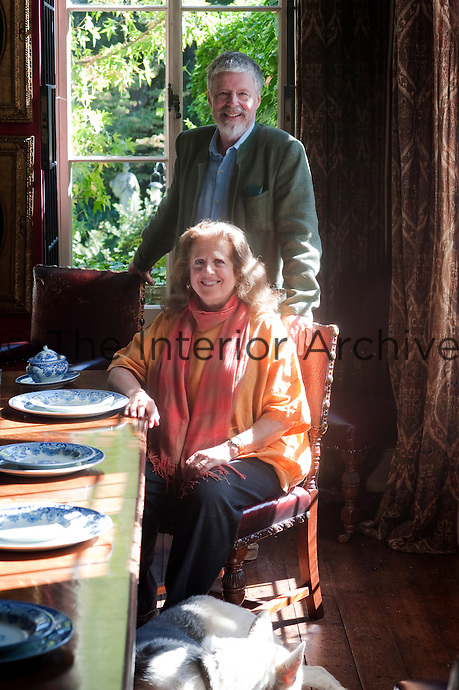 Adam Munthe and his wife Nellie in the dining room at Southside
