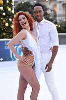 """Lemar and Melody Le Moal<br /> at the """"Dancing on Ice"""" launch photocall, natural History Museum, London<br /> <br /> <br /> ©Ash Knotek  D3365  19/12/2017"""