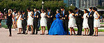 Quinceañera celebration at Chicago's Buckingham Fountain, Aug. 31, 2018. (DePaul University/Jamie Moncrief)