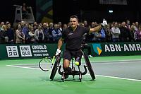 Rotterdam, The Netherlands, 16 Februari, 2018, ABNAMRO World Tennis Tournament, Ahoy, Tennis, Wheelchair, Stephane Houdet (FRA)<br /> <br /> Photo: www.tennisimages.com