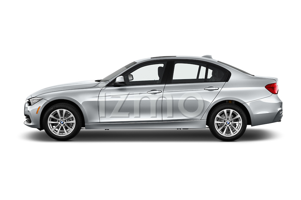 Car Driver side profile view of a 2018 BMW 3-Series 320i 4 Door Sedan Side View