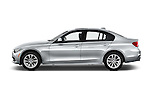 Car Driver side profile view of a 2017 BMW 3-Series 320i 4 Door Sedan Side View