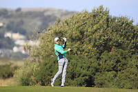 Mark Power from Ireland on the 10th fairway during Round 2 Singles of the Men's Home Internationals 2018 at Conwy Golf Club, Conwy, Wales on Thursday 13th September 2018.<br /> Picture: Thos Caffrey / Golffile<br /> <br /> All photo usage must carry mandatory copyright credit (&copy; Golffile | Thos Caffrey)