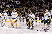 Mike Spillane (Vermont - 31), Joe Fallon (Vermont - 29), Jeff Hill (Vermont - 1), Jack Downing (Vermont - 21) - The Boston College Eagles defeated the University of Vermont Catamounts 4-0 in the Hockey East championship game on Saturday, March 22, 2008, at TD BankNorth Garden in Boston, Massachusetts.
