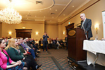Dr John Hillery speaking at the Fianna Fail selection convention in Hotel Woodstock. Photograph by John Kelly.