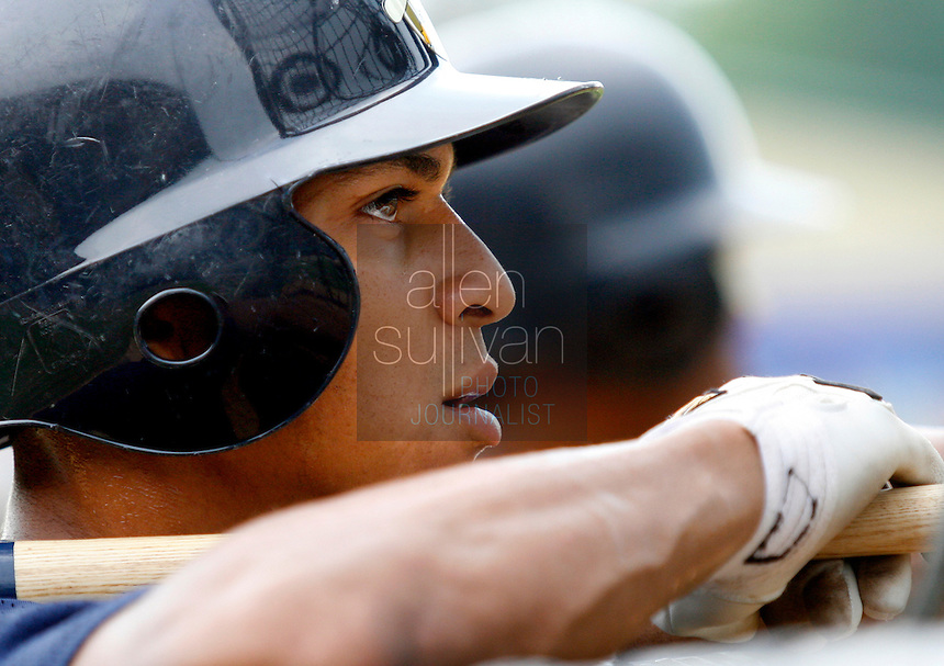 Tim Battle, a New York Yankees prospect from McIntosh High School in Peachtree City, takes batting practice before his team, the Charleston Riverdogs, played the Rome Braves in Rome, Ga. on Friday, July 14, 2006. Battle said he's been in full remission from lymphoma since 2003.<br />