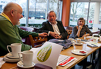 Birmingham and Coventry NUJ Branch Local News Matters Campaign Meeting, 31st Mar 2017, Kahawa Cafe Venue, Coventry with Coventry City Conservative Councillior Ken Taylor,