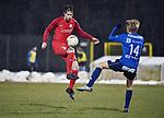 2018-03-03 / Voetbal / Seizoen 2017-2018 / FC Turnhout - Vosselaar / Berne Lenaerts (l. Vosselaar) met Jef Coeckelberghs<br /> <br /> ,Foto: Mpics.be