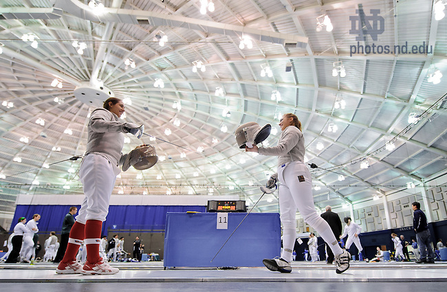 Feb. 23, 2013; Fencing: Women's saber..Photo by Matt Cashore/University of Notre Dame