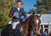 AUS-Shane Rose rides Virgil during the Prizegiving for the CCI5*-L. Final-3rd. Les 5 Etoiles de Pau. Pyrenees Atlantiques. France. Sunday 27 October. Copyright Photo: Trevor Holt - Kingfisher Media Services