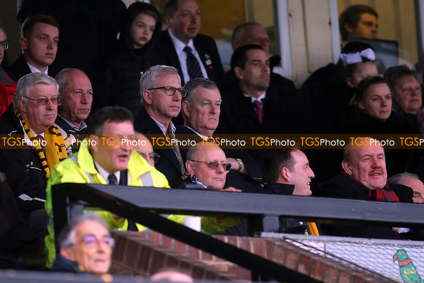 Alan Pardew watches the match from the Main Stand during Sutton United  vs Leeds United, Emirates FA Cup Football at the Borough Sports Ground on 29th January 2017