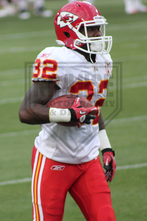 GREEN BAY - SEPTEMBER 2011: Demond Washington (32) of the Kansas City Chiefs during a game on September 1, 2011 at Lambeau Field in Green Bay, Wisconsin. (Photo by Brad Krause)