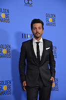 Diego Luna at the 74th Golden Globe Awards  at The Beverly Hilton Hotel, Los Angeles USA 8th January  2017<br /> Picture: Paul Smith/Featureflash/SilverHub 0208 004 5359 sales@silverhubmedia.com