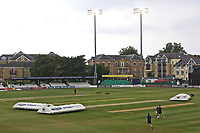 The floodlights are on ahead of Essex CCC vs Middlesex CCC, Specsavers County Championship Division 1 Cricket at The Cloudfm County Ground on 27th June 2017