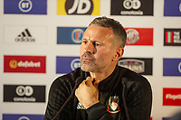 Ryan Giggs Manager of Wales during the Wales Press Conference at The Vale Resort in Cardiff, Wales, UK. Saturday 12 October 2019