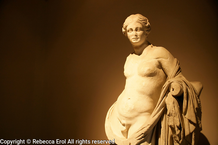 Statue at the archaeological museum in Istanbul, Turkey