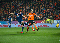 27th December 2019; Dens Park, Dundee, Scotland; Scottish Championship Football, Dundee Football Club versus Dundee United; Paul McGowan of Dundee fires in a shot - Editorial Use