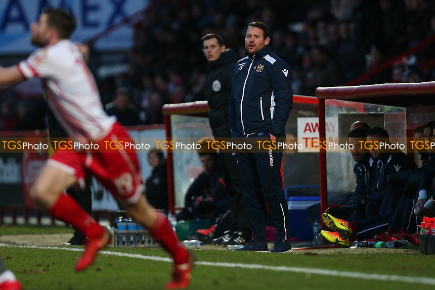 Stevenage manager Darren Sarll during Stevenage vs Reading, Emirates FA Cup Football at the Lamex Stadium on 6th January 2018