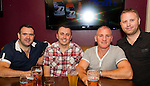 Darren Byrne (right) the night before his wedding to Theresa Madden, in Barroco. Pictured with Paul Leech, Brian Carey and brother Karl Byrne..Picture: Shane Maguire / www.newsfile.ie.