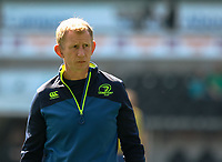 Leinster's Head Coach Leo Cullen during the pre match warm up<br /> <br /> Photographer Simon King/CameraSport<br /> <br /> Guinness PRO12 Round 19 - Ospreys v Leinster Rugby - Saturday 8th April 2017 - Liberty Stadium - Swansea<br /> <br /> World Copyright &copy; 2017 CameraSport. All rights reserved. 43 Linden Ave. Countesthorpe. Leicester. England. LE8 5PG - Tel: +44 (0) 116 277 4147 - admin@camerasport.com - www.camerasport.com