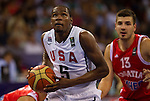 28.08.2010, Abdi Ipekci Arena, Istanbul, TUR, 2010 FIBA World Championship, USA vs Croatia, im Bild Kevin Durant of USA during to the Preliminary Round, EXPA Pictures © 2010, PhotoCredit: EXPA/ Sportida/ Vid Ponikvar *** ATTENTION *** SLOVENIA OUT!