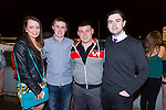 Louise Ryan, Kevin Burke, Noel Glavin and Alan Dineen enjoying the Causeway Comprehensive School night at the dogs at Kingdom Greyhound Stadium on Friday