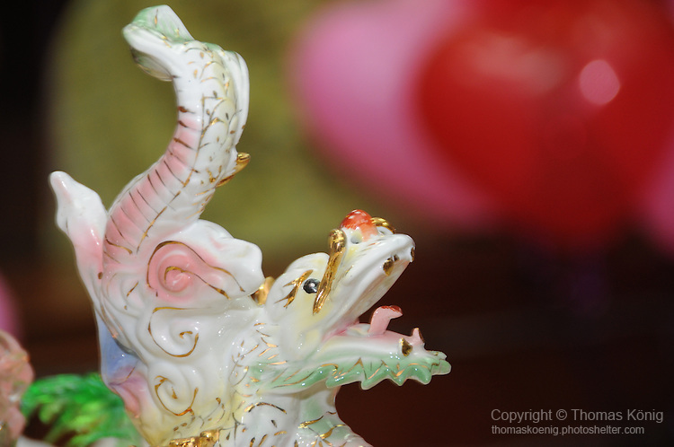 Taiwanese Wedding -- Dragon figure on the bridal food plate.<br /> <br /> In ancient China, the dragon was a symbol reserved for the emperor, and thus symbolizes the importance of the couple at their own wedding.