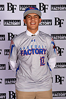 Brendan Bell (12) of Park Vista High School in Lake Worth, Florida during the Baseball Factory All-America Pre-Season Tournament, powered by Under Armour, on January 12, 2018 at Sloan Park Complex in Mesa, Arizona.  (Mike Janes/Four Seam Images)