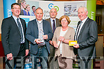 The annual Enterprise Month was officially launched on Monday with the Kerry Local Enterprise Office County Enterprise Awards at the Manor West Hotel. Pictured are winners  Mary and Fionan Murphy, FM Marine Services, Ltd, with Barry Murphy, AIB, Tomas Hayes, Local Enterprise Office Jerry Moloney (Regional Director Enterprise Ireland), Tomas Hayes, Local Enterprise Office