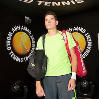 Februari 12, 2015, Netherlands, Rotterdam, Ahoy, ABN AMRO World Tennis Tournament, Milo Raonic (CAN)<br /> Photo: Tennisimages/Henk Koster
