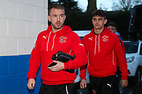 Paddy Madden and Harrison Biggins of Fleetwood Town during the Sky Bet League 1 match between Rochdale and Fleetwood Town at Spotland Stadium, Rochdale, England on 20 March 2018. Photo by Thomas Gadd.