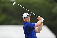 Paul Dunne (Europe) on the 2nd tee during the Singles Matches of the Eurasia Cup at Glenmarie Golf and Country Club on the Sunday 14th January 2018.<br /> Picture:  Thos Caffrey / www.golffile.ie