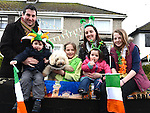 Margaret, Kate and Conor McKenna, Aoibhin and Rachel Garry and Florrie pictured at the Drogheda St Patrick's day parade. Photo:Colin Bell/pressphotos.ie