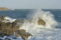Rough sea on the British coast
