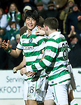 St Johnstone v Celtic...18.12.11   SPL .Ki Sung Yeung celebrates his goal.Picture by Graeme Hart..Copyright Perthshire Picture Agency.Tel: 01738 623350  Mobile: 07990 594431