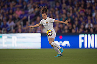 Orlando, FL - Saturday March 24, 2018: Utah Royals defender Rachel Corsie (2) during a regular season National Women's Soccer League (NWSL) match between the Orlando Pride and the Utah Royals FC at Orlando City Stadium. The game ended in a 1-1 draw.