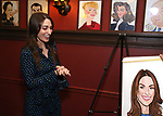 Sara Bareilles receives a Sardi's Portrait at Sardi's Restaurant on April 3, 2018 in New York City.