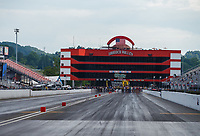 Jun 18, 2017; Bristol, TN, USA; Overall view of the Bristol Dragway track and timing tower suites following the NHRA Thunder Valley Nationals. Mandatory Credit: Mark J. Rebilas-USA TODAY Sports