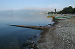 Pogradec-Albania - August 02, 2004---A broken pipe for sewage led into Lake Ohrid; region/village of project implementation by GTZ-Wiram-Albania (German Technical Cooperation, Deutsche Gesellschaft fuer Technische Zusammenarbeit (GTZ) GmbH); infrastructure-environment-pollution---Photo: Horst Wagner/eup-images